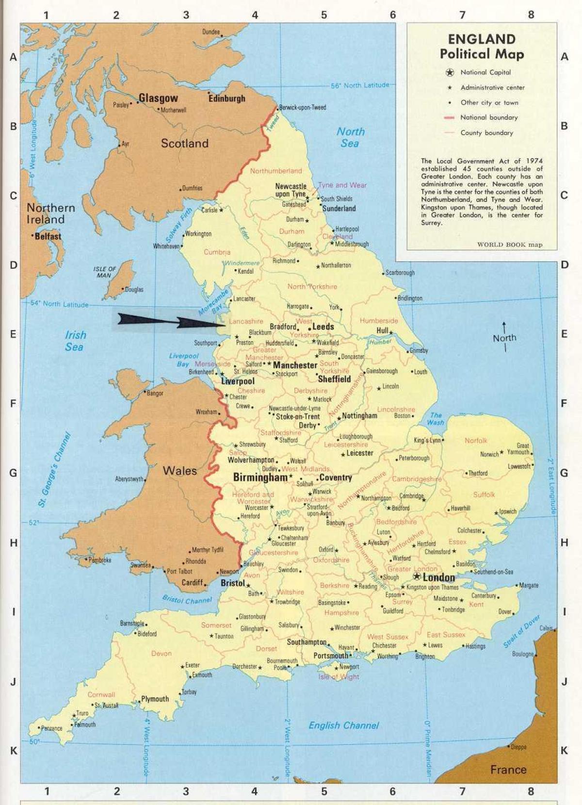 Uk Kort Byer Kort Over Storbritannien Med Byer Og Byer I Det