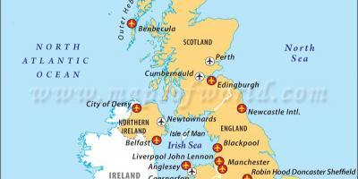 Kort Over Angelsaksisk Storbritannien Storbritannien Kort Anglo